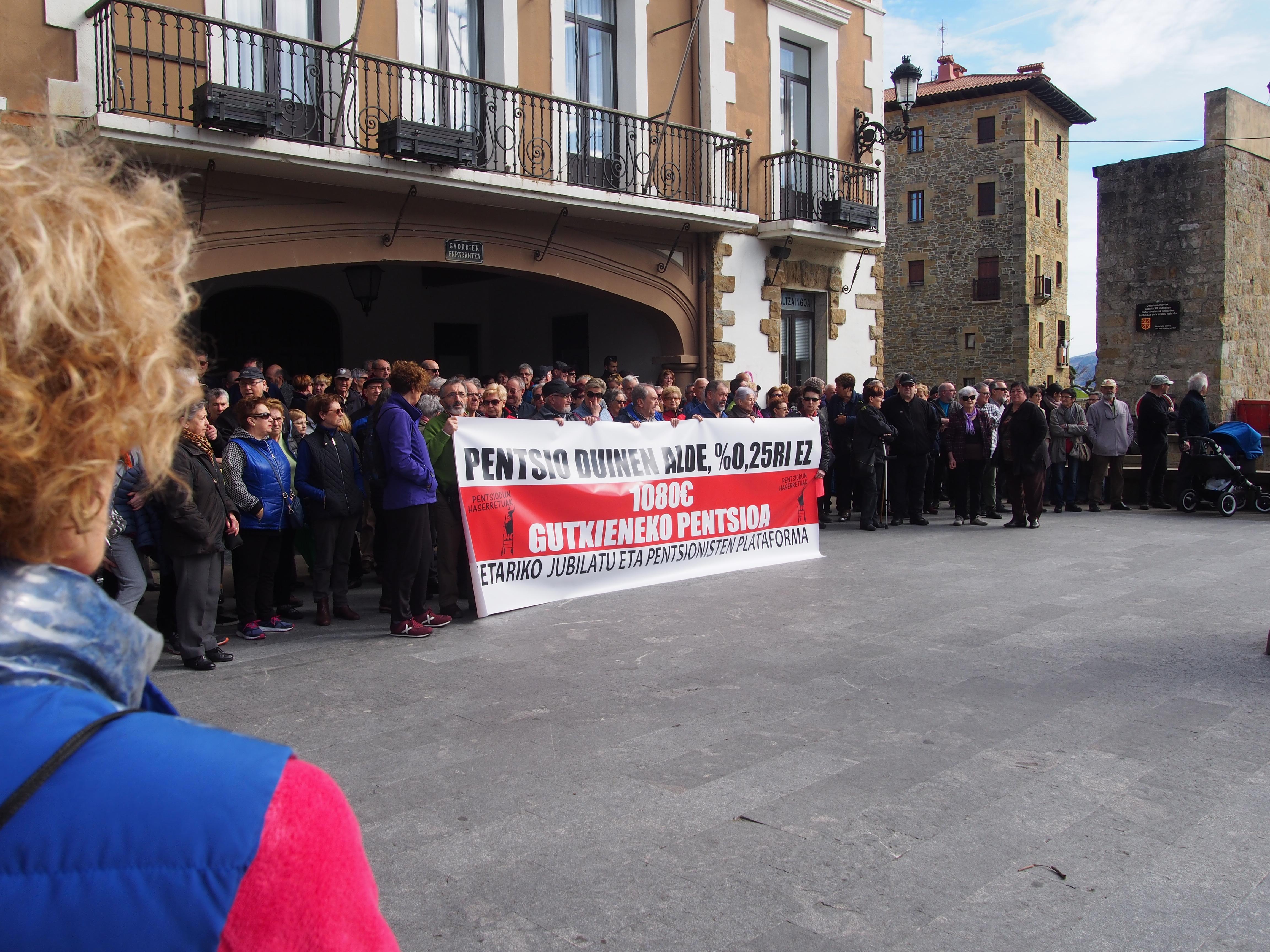 Getariako pentsionisten manifestazioa