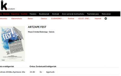 Badator  Artzape  Fest!…  eta  urduri  gaude