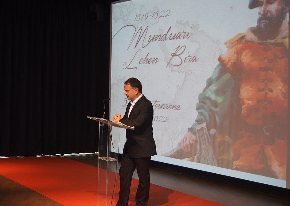 Mundubira  500  Elkano  Fundazioa  herritarrei  aurkeztuko  zaie  ostegunean