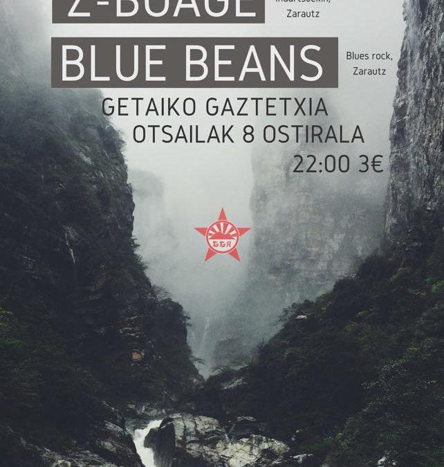 Kontzertuak:  Silence,  Z-Boage  eta  Blue  Beans