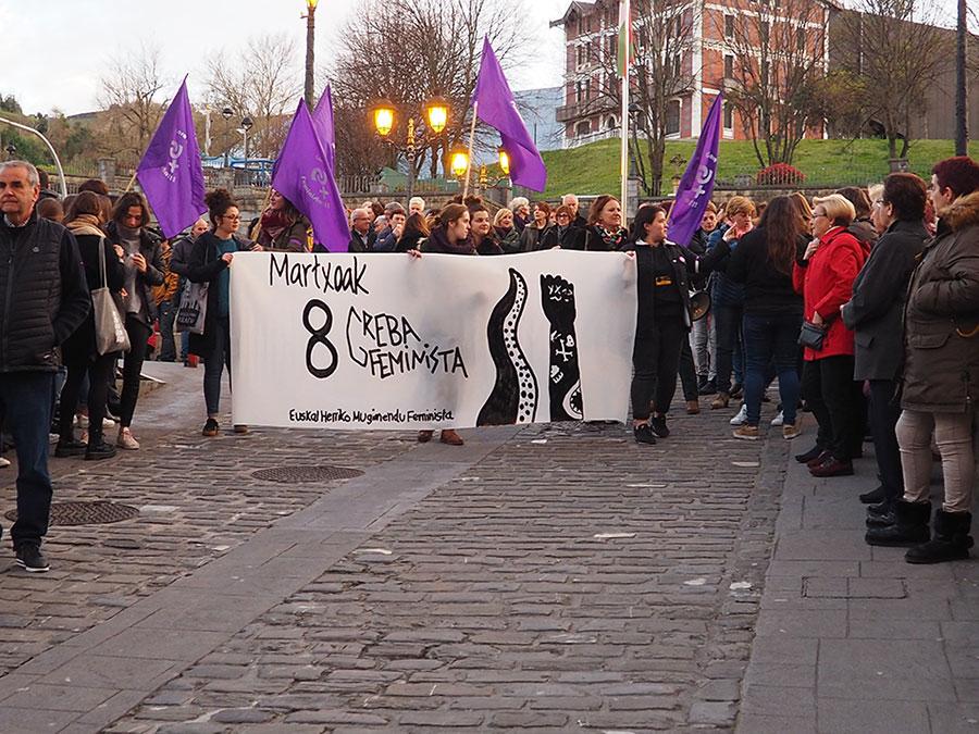 Martxoaren 8ko manifestazioa Getarian