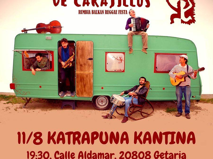 De  Carajillos  taldeak  kontzertua  eskainiko  du  bihar  Kataprunan