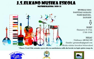 J.S.Elkano Musika Eskolako matrikulazioa zabalik
