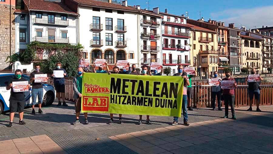 LAB sindikatuak metalgintzako langileak mobilizatzera deitu ditu