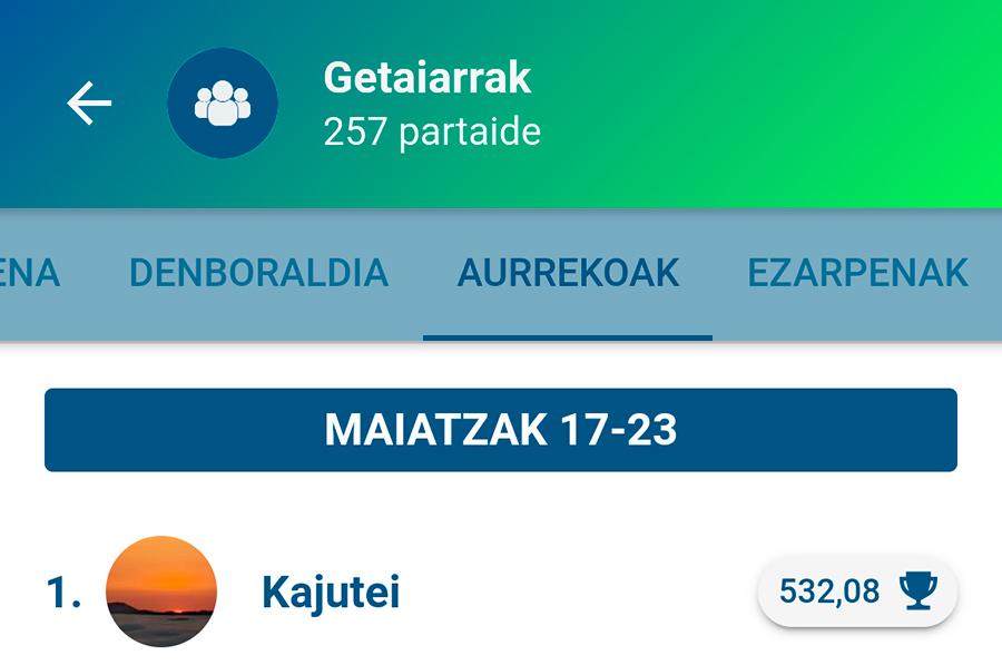 Denboraldiko bigarren garaipena Kajuteirentzat